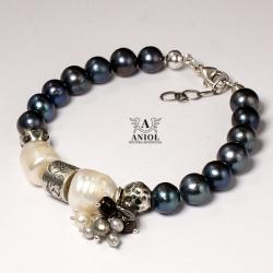 bransoleta damska,biżuteria z pereł - Bransoletki - Biżuteria