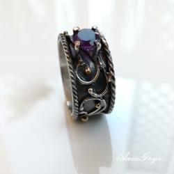 oksydowany,efektowny,bogaty - Pierścionki - Biżuteria