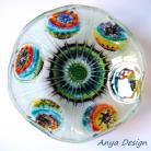 Ceramika i szkło miska,szkło,fusing
