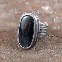 srebrny pierścionek z kyanitem - Pierścionki - Biżuteria