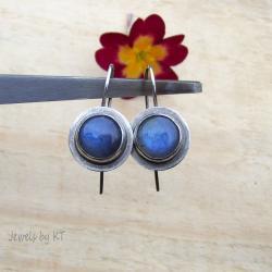 labradoryt,niebieski,klasyczne,Jewels by KT - Kolczyki - Biżuteria