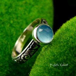 Nehesi,pierścień,srebrny,elfy,delikatny,agat - Pierścionki - Biżuteria