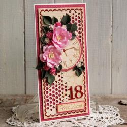 kartka,urodziny,osiemnastka,na prezent - Kartki okolicznościowe - Akcesoria