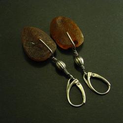 kolczyki,bursztynowe - Kolczyki - Biżuteria