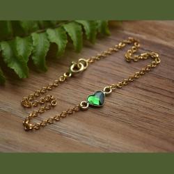 bransoletka z serduszkiem - Bransoletki - Biżuteria