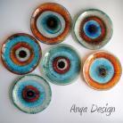 Ceramika i szkło talerzyki,komplet,szkło,fusing