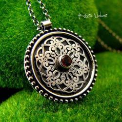 Nehesi,naszyjnik,srebrny,srebra,mandala - Naszyjniki - Biżuteria