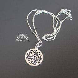 rozetka,srebrna,naszyjnik,aniagrys - Naszyjniki - Biżuteria