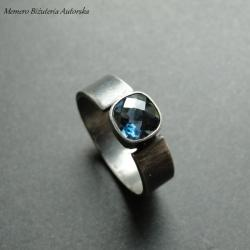 srebro,topaz,elegancki - Pierścionki - Biżuteria