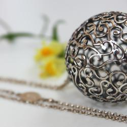 kula,srebro,ażurowa - Wisiory - Biżuteria