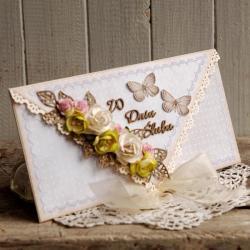 ślub,na prezent ślubny,wesele,kartka,ślubna - Kartki okolicznościowe - Akcesoria
