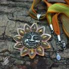 Wisiory aillilstudio,słońce,boho,rzeźbiony