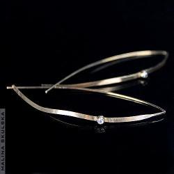 kolczyki,długie,delikatne,cyrkonia,srebrne,złocone - Kolczyki - Biżuteria
