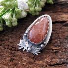 Wisiory Oryginalny wisior z kamieniem słonecznym,srebro