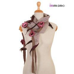 naszyjnik,szalik,na szyję,długi,krótki,filc - Naszyjniki - Biżuteria