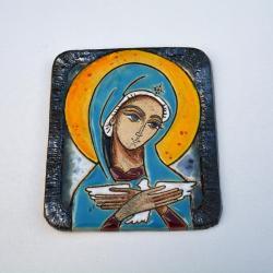 Beata Kmieć,ikona ceramiczna,obraz,Matka Boska - Ceramika i szkło - Wyposażenie wnętrz