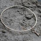 Bransoletki bransoletka,koło,kluczyk,srebro,charms