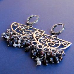 okazałe,bogate,ażurowe - Kolczyki - Biżuteria
