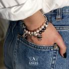 Bransoletki komplet bransolet z pereł,biżuteria damska