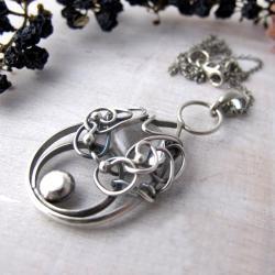 naszyjnik,kwarc,srebro - Naszyjniki - Biżuteria