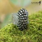 Pierścionki pierścionek,duży,efektowny,błyszcący