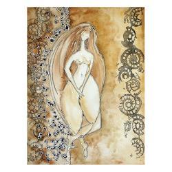 kobieta,malarstwo,wnętrze,na ścianę,dekoracja,akt - Ilustracje, rysunki, fotografia - Wyposażenie wnętrz