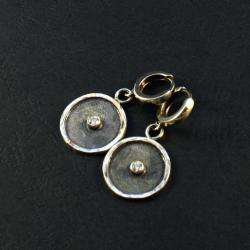 srebrne kolczyki z cyrkoniami - Kolczyki - Biżuteria