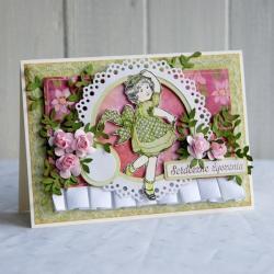 kartka,dla dziewczynki,na urodziny,na prezent - Dla dzieci - Akcesoria