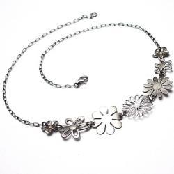 romantyczny,krótki,kwiaty,choker - Naszyjniki - Biżuteria