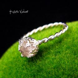 Nehesi,Pierścień,Ze Srebra,kryształem górskim - Pierścionki - Biżuteria