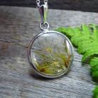 Wisiory srebrny,okrągły,żywica,natura,dmuchawiec