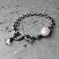 z zawieszkami,srebrna,z minerałemi,modna,gruba - Bransoletki - Biżuteria