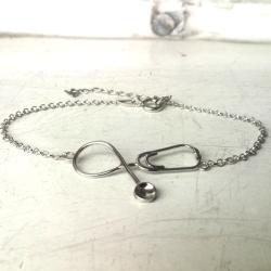 bransoletkka,srebro,stetoskop - Bransoletki - Biżuteria