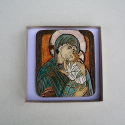 Beata Kmieć,ikona,Maryja,ceramika,obraz - Ceramika i szkło - Wyposażenie wnętrz