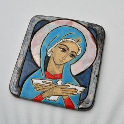 Beata Kmieć,ikona ceramiczna,ikona,Matka Boska - Ceramika i szkło - Wyposażenie wnętrz