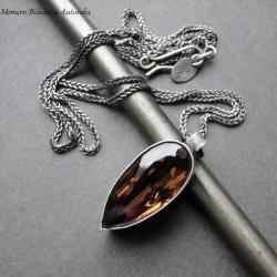 srebro,ametryn,surowy,amulet,naszyjnik - Naszyjniki - Biżuteria