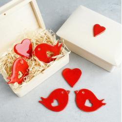 romantyczne,walentynki,magnesy,miłość - Ceramika i szkło - Wyposażenie wnętrz