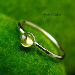 Nehesi,pierścień,srebrny,elfy,delikatny,oliwin - Pierścionki - Biżuteria