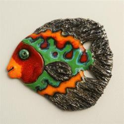 Beata Kmieć,ryba,ceramika,obraz - Ceramika i szkło - Wyposażenie wnętrz