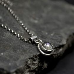 naszyjnik z labradorytem w srebrze - Naszyjniki - Biżuteria