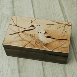pirografia,raniuszki,ptaki - Pudełka - Wyposażenie wnętrz