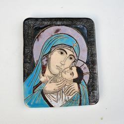 Beata Kmieć,ikona ceramiczna,ikona,Maryja,obraz - Ceramika i szkło - Wyposażenie wnętrz