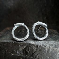 srebro,kuty,surowy - Kolczyki - Biżuteria