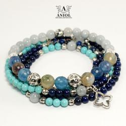komplet bransolet,koraliki,biżuteria damska - Bransoletki - Biżuteria