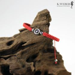 bransoletka na czerwonym sznurku,unisex,ochronna - Bransoletki - Biżuteria