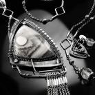 Naszyjniki srebrny,naszyjnik,wire-wrapping,agat,koronkowy