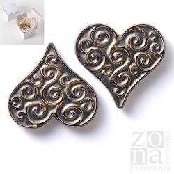 serce,serduszka,magnesy,ceramika,ornament - Ceramika i szkło - Wyposażenie wnętrz