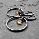 Kolczyki koła,duże,eleganckie,nowoczesne,surowe,srebrne