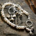 Kolczyki komplet,kolczyki srebrne,bransoleta z pereł