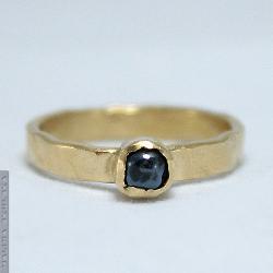 prosty,młotkowany,delikatny,toho,złocony - Pierścionki - Biżuteria